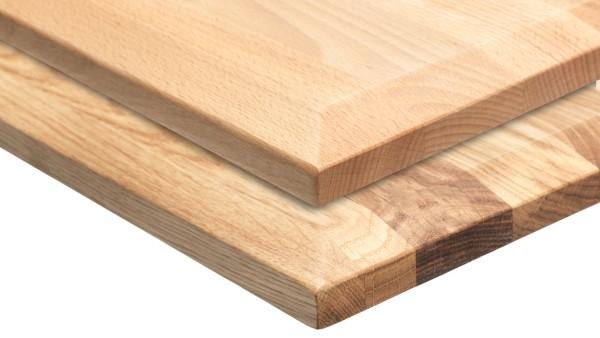 Massivholzplatten in Buche und Eiche